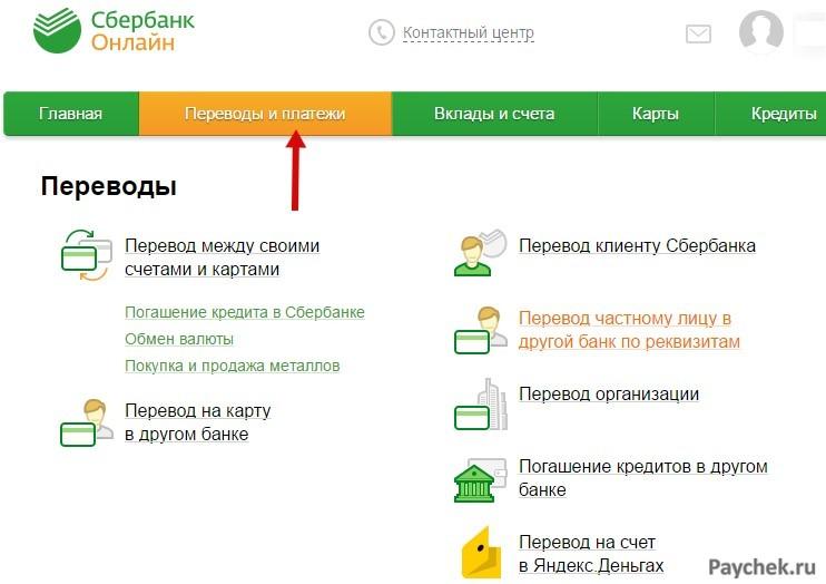 Перевод на Visa QIWI через Сбербанк Онлайн
