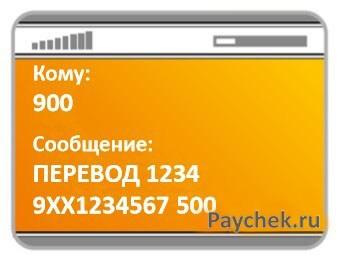 Перевод денег по номеру телефона получателя