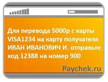 Код подтверждения перевода по номеру карты в Сбербанке