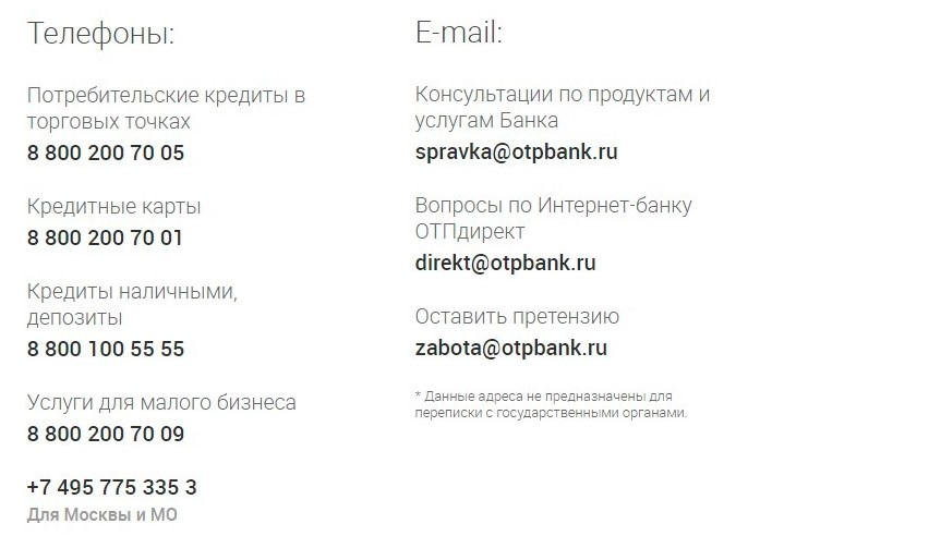 Как позвонить в ОТБ Банк - контакты службы поддержки
