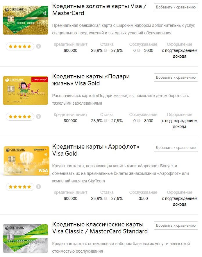 Изображение - Тарифы по банковским картам сбербанка 4